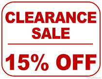 15% Off Clearance Sale Sign