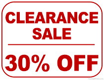 30% Off Clearance Sale Sign