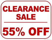 55% Off Clearance Sale Sign