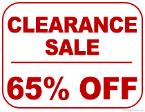 65% Off Clearance Sale Sign
