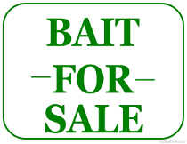 Bait for Sale Sign
