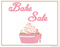Bake Sale Sign