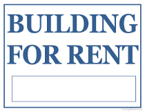 Building For Rent Sign