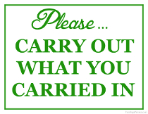 Carry Out What You Carried In Sign