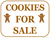Cookies For Sale Sign