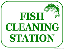 Fish Cleaning Station Sign