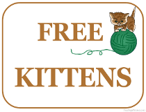 Free Kittens For Sale Sign