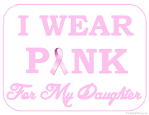 I wear Pink for my Daughter Sign