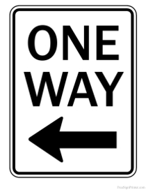 One Way Sign Pointing Left
