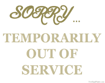 Temporarily out of Service Sign