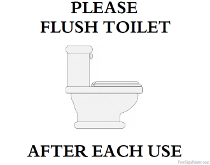 Please Flush Toilet after Each Use Sign