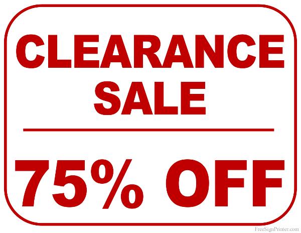 printable for sale sign