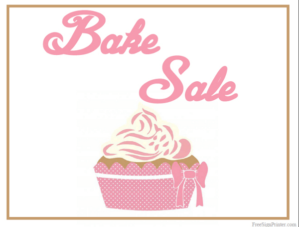 Gratifying image throughout free printable bake sale signs