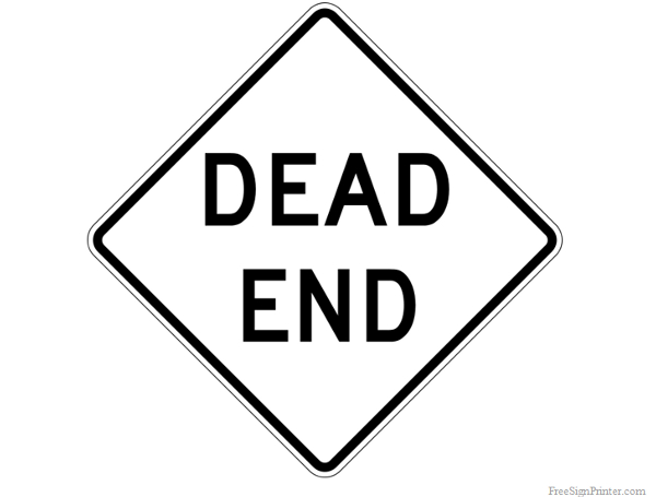 Printable Dead End Sign