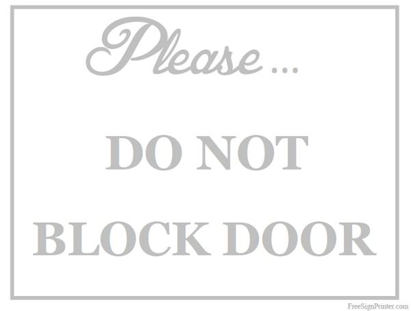 printable door signs