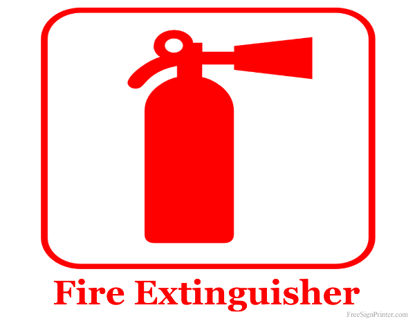 Printable Fire Extinguisher Sign