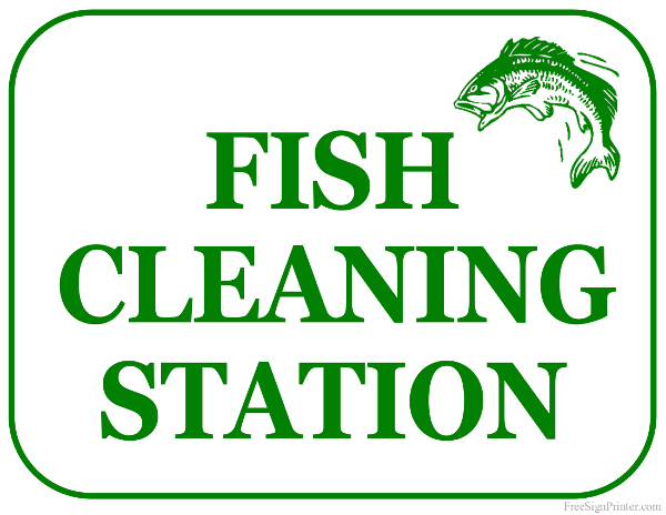 Printable Fish Cleaning Station Sign