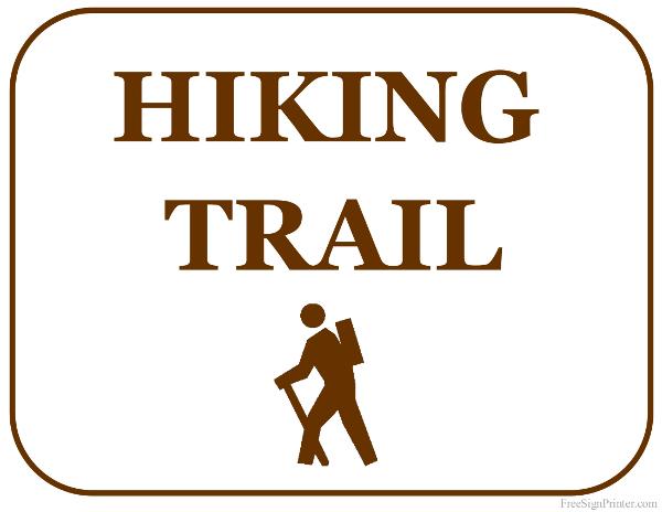 printable hiking trail sign
