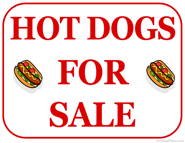 Selling Hot Dogs At Garage Sale