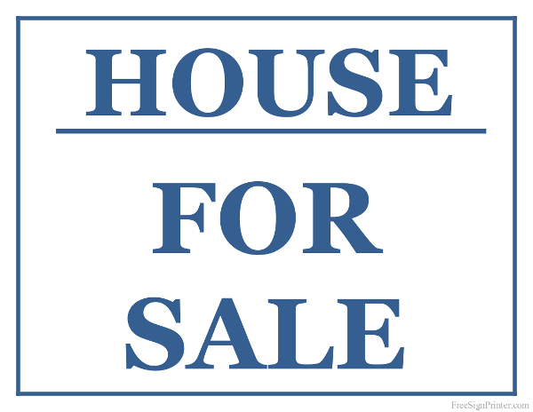 Pictures of house for sale signs