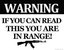 If you can Read this you are in range sign