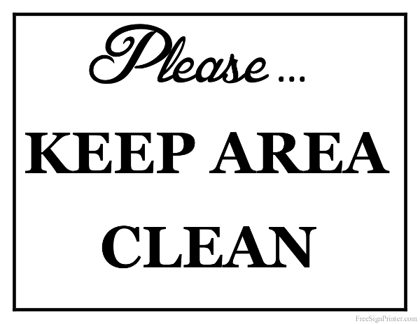 Clean bathroom sink clip art - Keep Clean Sign Images Amp Pictures Becuo