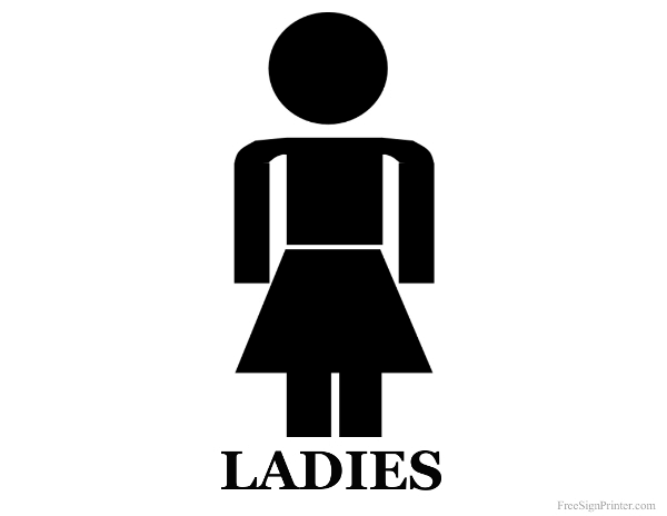 Printable Restroom Signs Print Bathroom Signs - Ladies bathroom sign