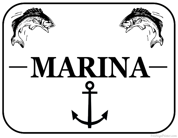 Printable Marina Sign