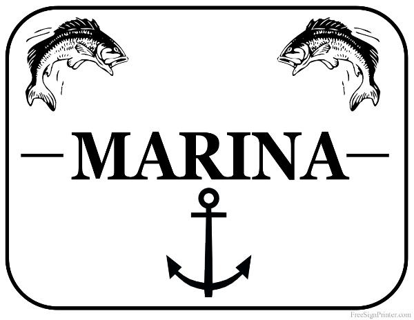 printable marina sign