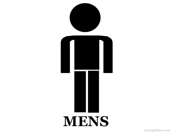 Printable Mens Restroom Sign