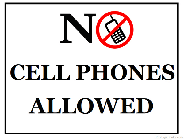 graphic about No Pets Allowed Sign Free Printable called Printable No Mobile Telephones Authorized Signal
