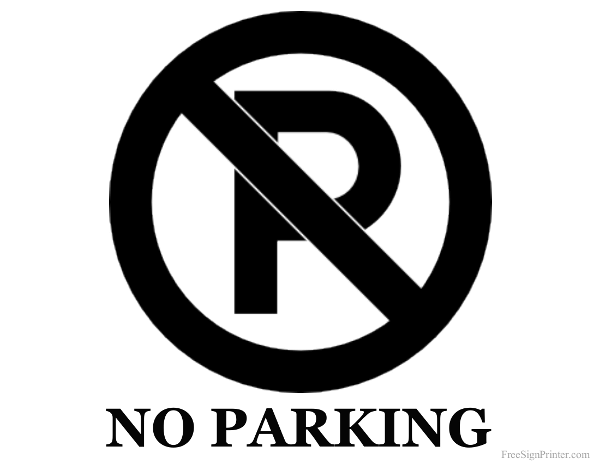 Printable No Parking Sign