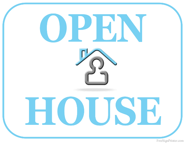 printable open house sign, Powerpoint templates