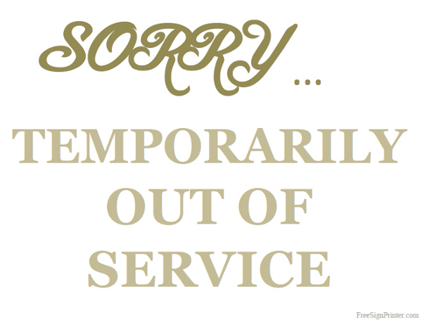 photograph relating to Restroom Out of Order Sign Printable named Printable Out Of Company Indication