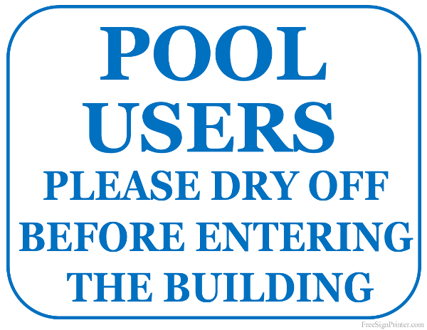 Printable Please Dry Off Before Entering The Building Sign