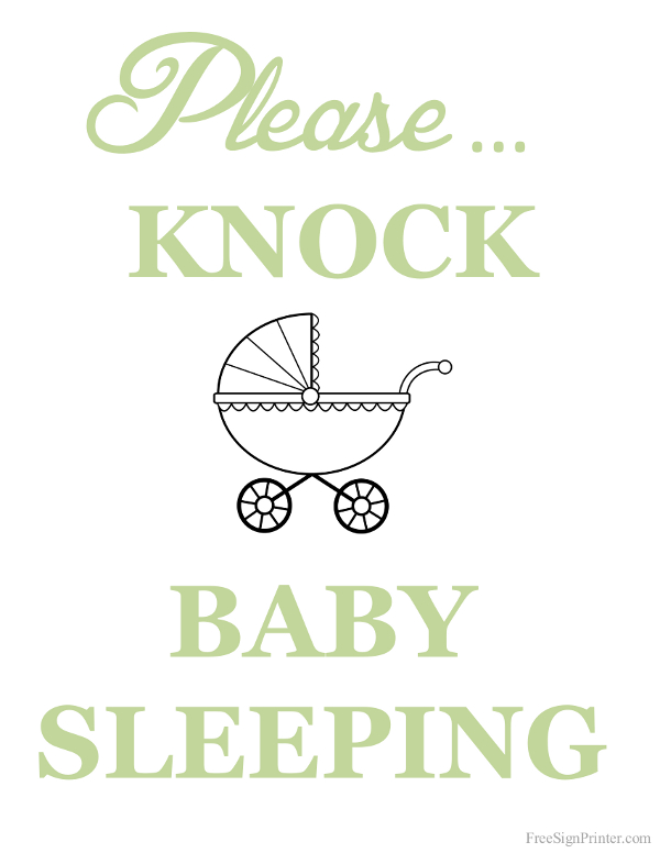 Juicy image in baby sleeping sign printable