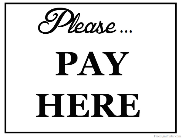 Please sign in here printable please pay here sign