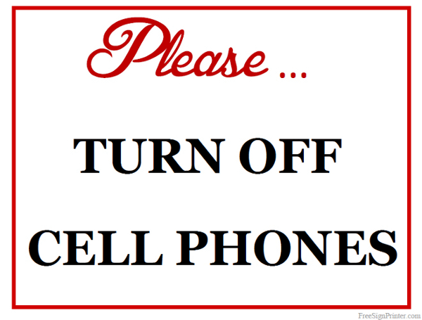Fresh Printable Please Turn Off Cell Phones Sign SF03