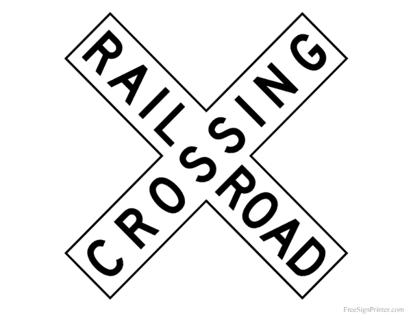 Printable Railroad Crossing Sign
