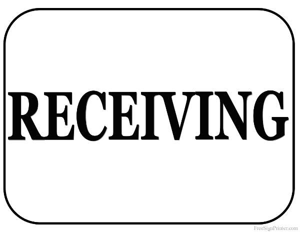 Printable Receiving Sign
