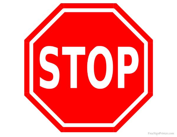 Printable Stop Sign