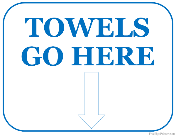 image relating to Printable Towels identified as Printable Towels Transfer Below Signal