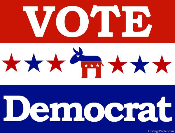 Printable Vote Democrat Sign