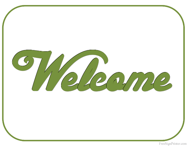 Printable Welcome Sign