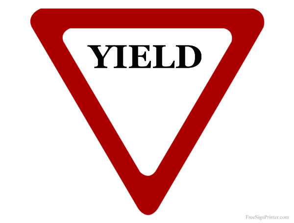 Printable Yield Sign