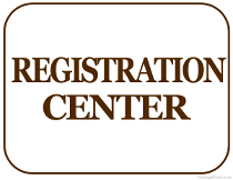 Registration Center Sign