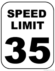 Printable Speed Limit Signs