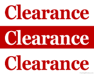 Store Clearance Sign