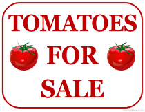 Tomatoes For Sale Sign