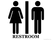 Restroom for Both Sexes Sign